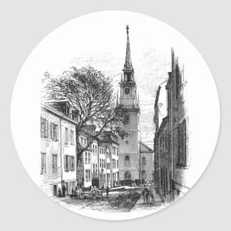 Old North Church Classic Round Sticker