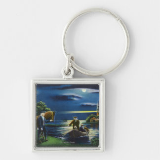 Old North Church Tower Signal Scene Key Chains