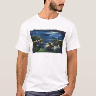 Old North Church Tower Signal Scene T-Shirt