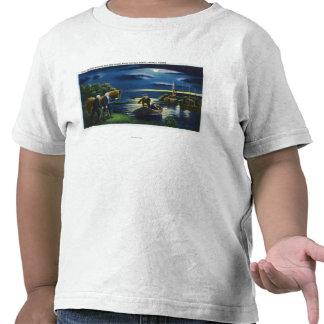Old North Church Tower Signal Scene T-shirts