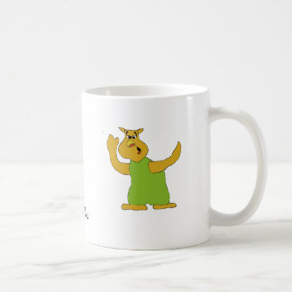 Old Nosy Cartoon Owl Coffee Mug