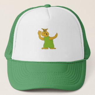 Old Nosy Cartoon Owl Trucker Hat