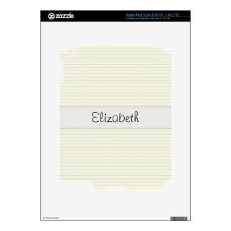 old Notepaper Stitched Vellum iPad 3 Decal