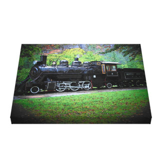 Old Number 6 Retired Seattle Train Engine Canvas Print
