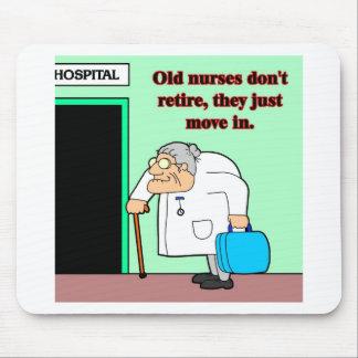 old nurses mouse pad