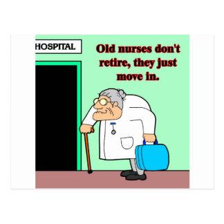 old nurses postcard