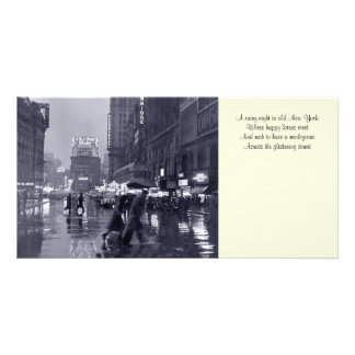Old NYC Rainy Night Bookmark Photocard Card