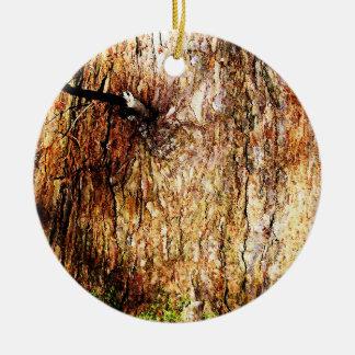 Old Oak Tree Bark Ceramic Ornament