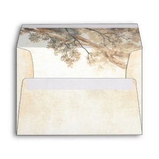 Old Oak Tree Branches Rustic Wedding Envelope