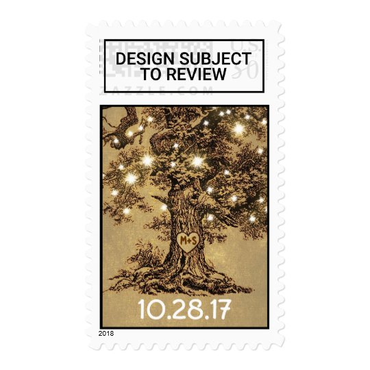 Old Oak Tree Rustic Wedding Postage Stamps Zazzle Com