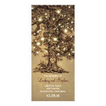 old oak tree rustic wedding programs