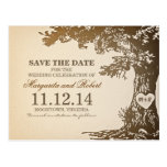 old oak tree save the date postcards