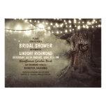 old oak tree twinkle lights bridal shower custom invite