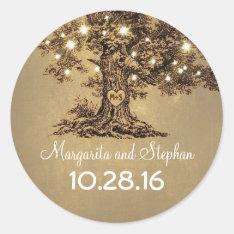 Old Oak Tree Wedding Stickers at Zazzle