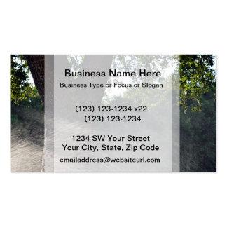 old oak trunk with sprinkler business card template