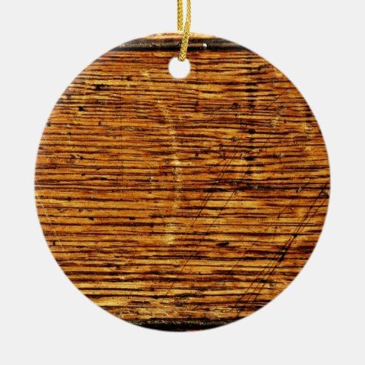 Old Oak Wood Ceramic Ornament