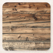 Old oak wood texture background coaster
