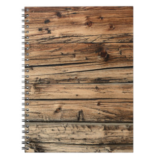 Old oak wood texture background notebook