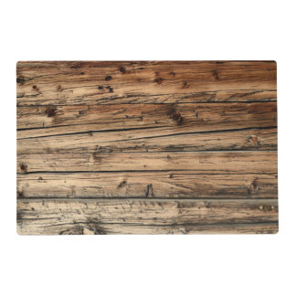 Old oak wood texture background placemat