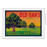 Old Oaks Pear Crate LabelBryte, CA