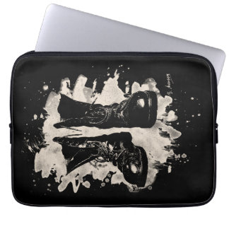 Old of boat bleached look computer sleeve