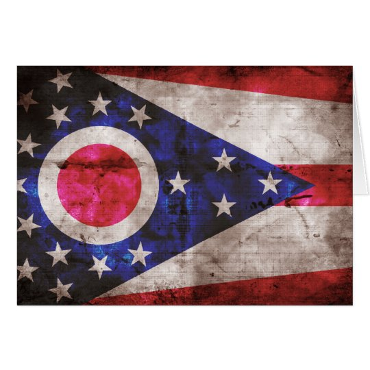 Old Ohio Flag; Card
