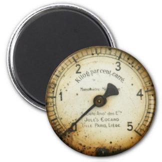 old oil pressure gauge / instrument / dial / meter 2 inch round magnet