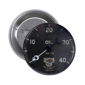 old oil pressure gauge / instrument / dial / meter button