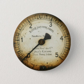 old oil pressure gauge / instrument / dial / meter button