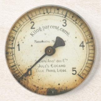 old oil pressure gauge / instrument / dial / meter drink coasters