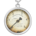 old oil pressure gauge / instrument / dial / meter personalized necklace