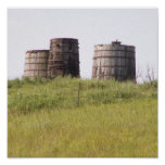 Old Oil storage Tanks Posters