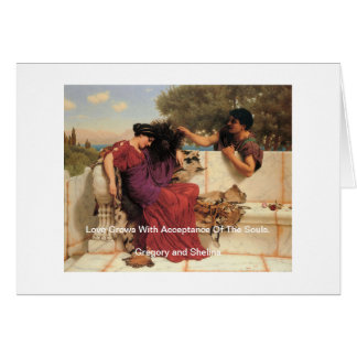 Old Old Story Greek Couple Greeting Card
