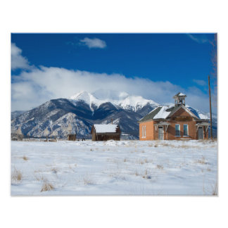 Old One Room Schoolhouse Salida, Mt Princeton Photo Print