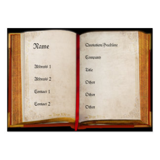 Old open Book Large Business Cards (Pack Of 100)