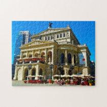 Old Opera Monument Frankfurt Germany. Jigsaw Puzzle