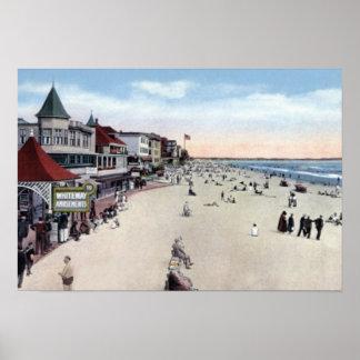 Old Orchard Beach Maine Beach Scene Poster