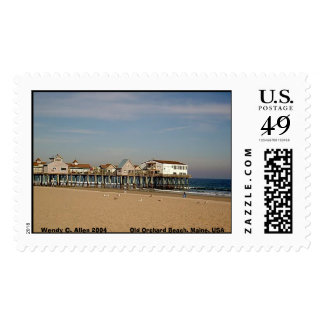 Old Orchard Beach, Maine, USA Postage Stamp