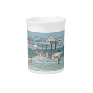 Old Orchard Beach Pier Drink Pitcher