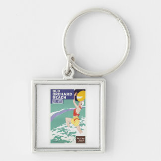 Old Orchard Beach Vintage Travel Key Chain
