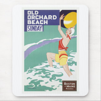 Old Orchard Beach Vintage Travel Mousepads