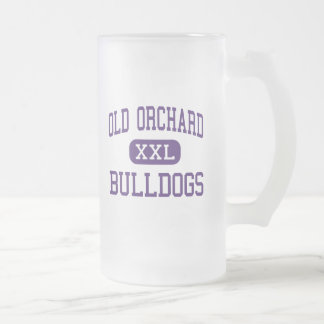 Old Orchard - Bulldogs - Junior - Skokie Illinois Frosted Glass Beer Mug