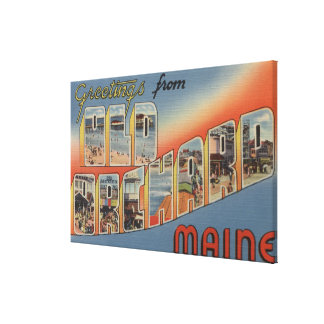 Old Orchard, Maine - Large Letter Scenes Canvas Print