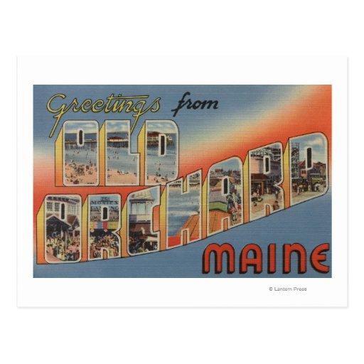 Old Orchard, Maine - Large Letter Scenes Postcard