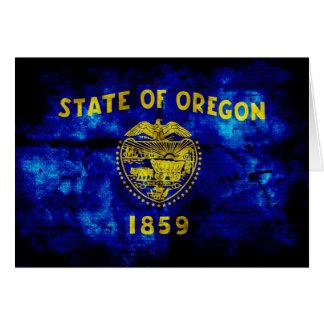 Old Oregon Flag; Card