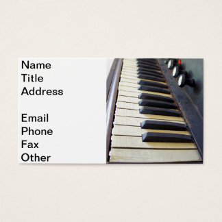 Old Organ Keys Business Card