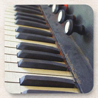 Old Organ Keys Coaster