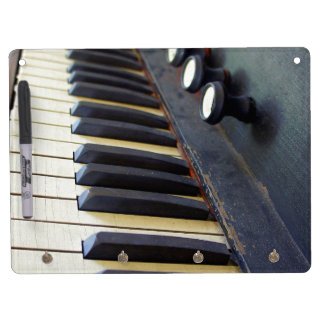 Old Organ Keys Dry Erase Board With Keychain Holder