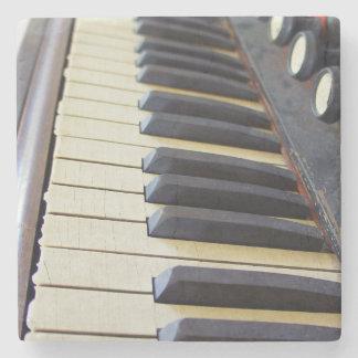 Old Organ Keys Stone Coaster