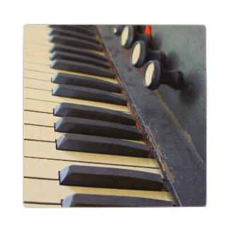 Old Organ Keys Wooden Coaster